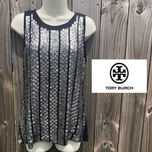 Tory Burch Silk Sequin Tank M
